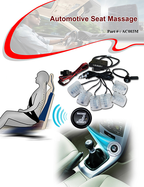 Seat Comfort 6 Points Seat Massage System